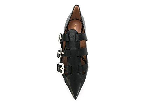 Mocassins de Valentino NQ2S0959VNU 0NO Noir modèle de veau en à Numéro boucle cuir noir XrxrwUq
