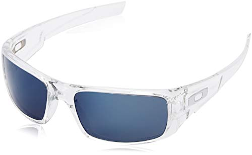 Oakley Men's OO9239 Crankshaft Rectangular Sunglasses, Polished Clear/Ice Iridium, 60 ()