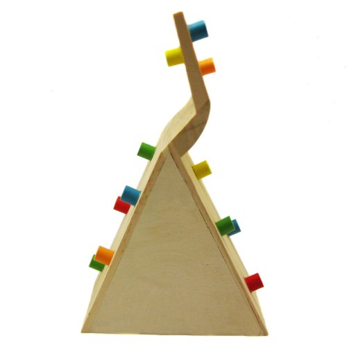 Alfie Pet by Petoga Couture - Small Animal Playground - Jami Wooden Climbing Hideout Toy for Small Animals like Dwarf Hamster and Mouse by Alfie (Image #5)
