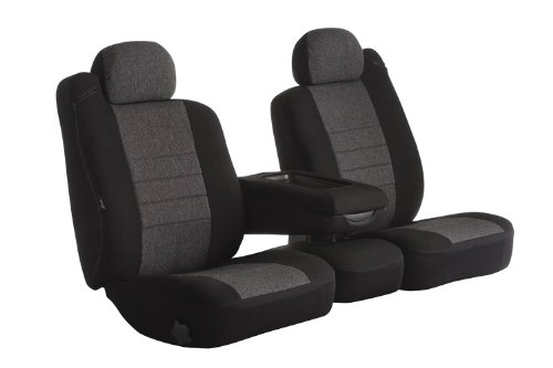 Fia OE37-17 CHARC Custom Fit Front Seat Cover Split Seat 40/20/40 - Tweed, (Charcoal) - Middle Seat Cover Charcoal