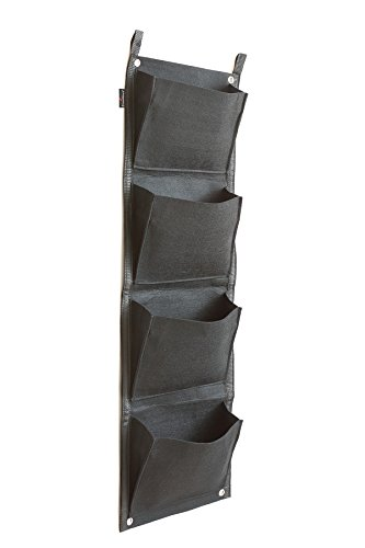 Prudance Vertical Wall Garden Planter, 4 Pockets, Wall Mount Plant Solution Large (Wall Felt)