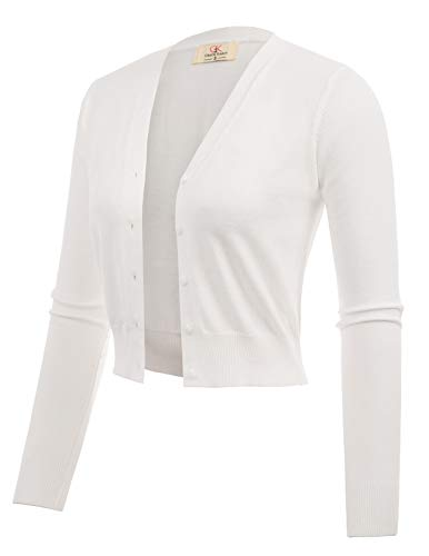 - Woven Short Bolero Shrug for Juniors Teens Ivory Size XL CL2000-2