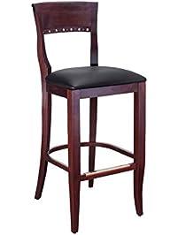 beechwood mountain bsd6bmo solid beech wood bar stool in medium oak for
