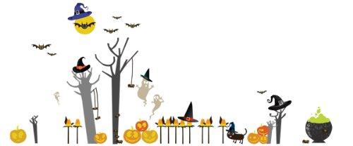 Pop & Lolli Peek-A-Boo! Hoo! Hoo! Halloween Overlay, Chic Fabric -