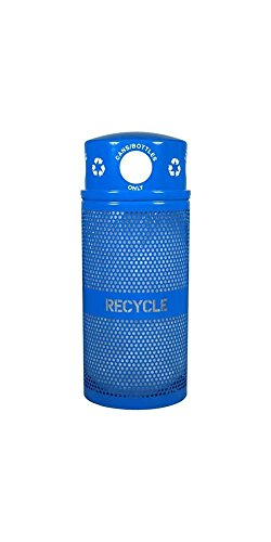 Ex-Cell Kaiser RC-34R DM CANS RBL Landscape Series Outdoor Recycling Receptacle, 34 Gallon Capacity, 18