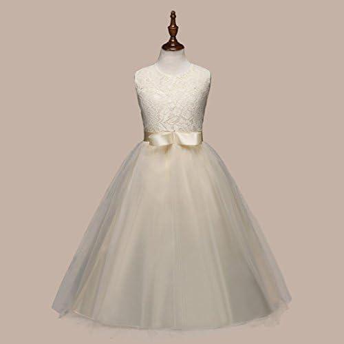 Familizo Robe de Gaze en Dentelle pour Filles ❤️ Fille Robe de Mariée Princesse (12Ans, ❤️Rouge)