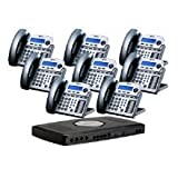 NEW XBlue Networks X16 8 - bundle TM X16 6-lines&8-telephone-Bundle-Titanium Metallic Modern Design