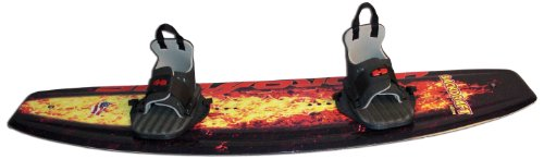 UPC 042813070702, Hydroslide Backdraft Wakeboard with Grabber Bindings (Black/Red/Yellow, 56-Inch)