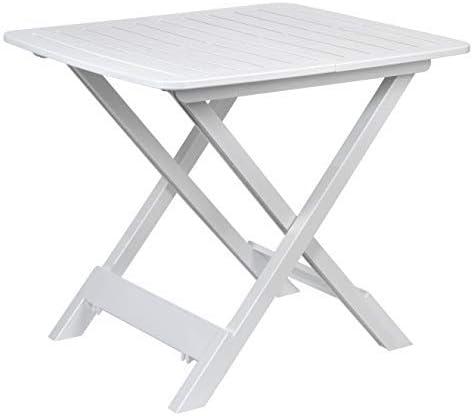 ACT – Tavolo da campeggio pieghevole, in plastica, 43 x 45 x 50 cm, colore: Bianco