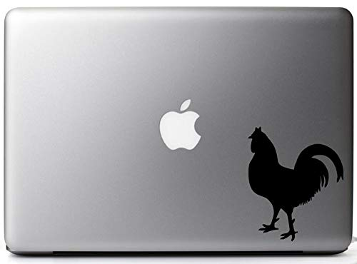 CECILIAPATER Rooster Silhouette Farm Animal Decal for Macbooks, iPads, Laptops and Vehicles ()