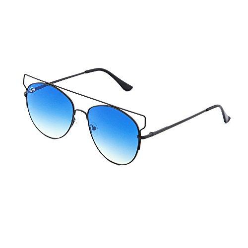 TWIG degradadas mujer TZARA Azul de espejo sol Negro Gafas Degradado 1EnqXW4t