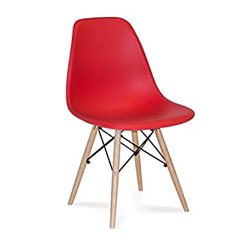 Ventamueblesonline Silla Tower Wood roja