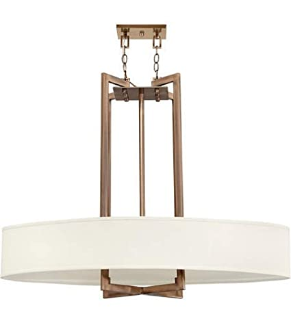 Pendants 4 Light Fixtures With Brushed Bronze Finish Metal