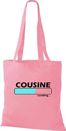 Jute Stoffbeutel Cousine Loading viele Farben rosa
