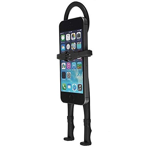 @FATO Flexible Human Shape Silicon Car Stand Holder Cover iPhone Smartphone]()