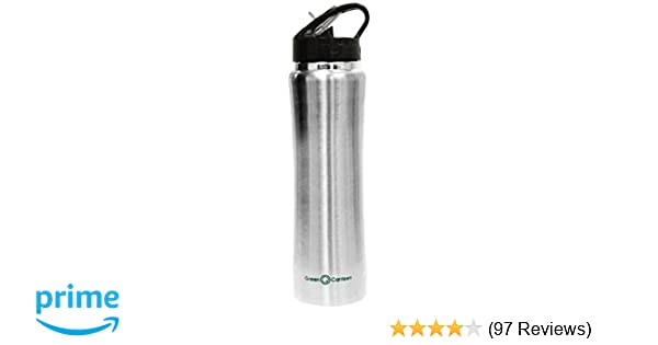 8d91308ff0 Green Canteen DWVB-125-SS Double Wall Stainless Steel Vacuum Bottle, 25 oz, Stainless  Steel