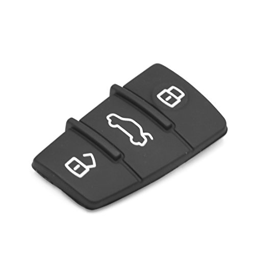 uxcell 3 Buttons Car Remote Fob Case Insert Rubber Pad Keypad Replacement for Audi