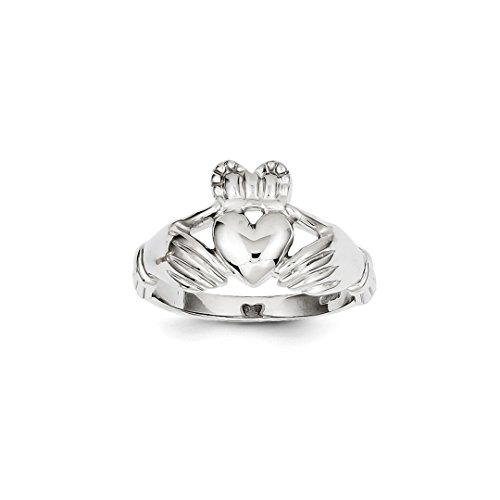 ICE CARATS 14kt White Gold Mens Irish Claddagh Celtic Knot Band Ring Size 9.00 Man Fine Jewelry Dad Mens Gift Set 14kt Gents Claddagh Ring