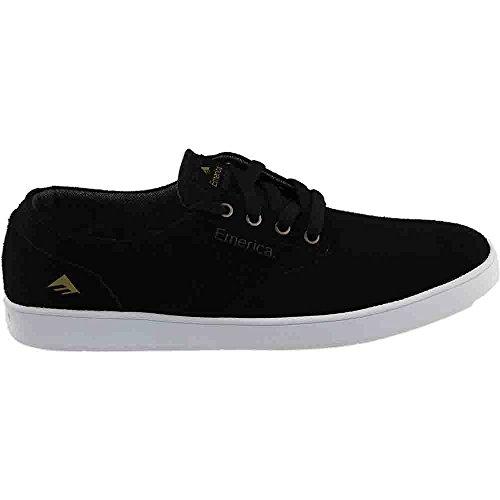 Emerica Men's The Romero Laced Skateboard Shoe, Black/White, 9.5 M US