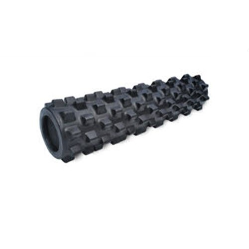 RumbleRoller - Mid Size 22 Inches - Black - Extra Firm - Textured Muscle Foam Roller - Relieve Sore...