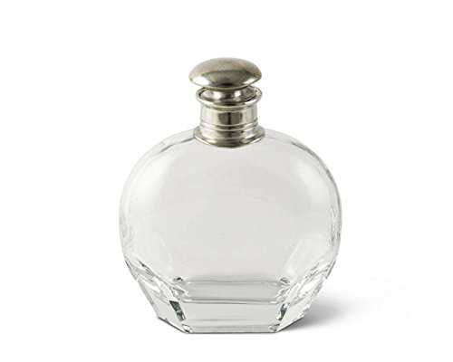 Vagabond House Classic Pewter Cap Liquor Decanter - Wide 8 1/2'' Tall x 6'' Long by Vagabond House