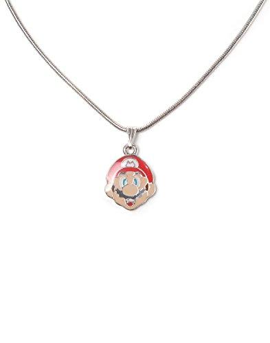 Nintendo Necklace Mario Face Bioworld Pendenti Collane