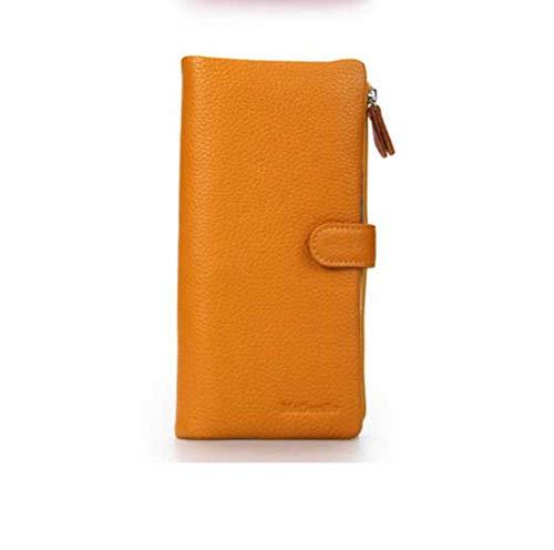 Modo Cuoio Delle Da Orange Borsa Moneta Personale Della Visita Biglietto Del color Di Niceamz Signore Nuova Frizione Black 6wq8BRpp
