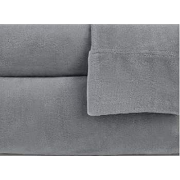 Berkshire Blanket VelvetLoft Sheet Set (Queen, Grey)