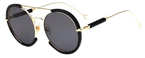 lunettes unisexe ultraviolet de rondes Color1 lunettes mode de soleil Polaroid JYR anti marée HD lunettes soleil Fx7UwqUn