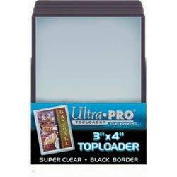 (2 Ultra Pro Regular Top Loaders Black Border 25ct Packs - 2 Packs (50 Toploaders) 81158)