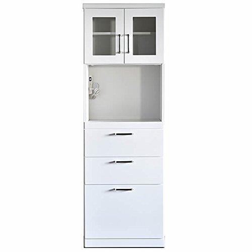食器棚 完成品 COCO(ココ) 白 幅60㎝OP 引き戸 キッチン収納 レンジ台付き食器棚 レンジボード おしゃれ (幅60cmオープンタイプ) B071JTXLKB幅60cmオープンタイプ