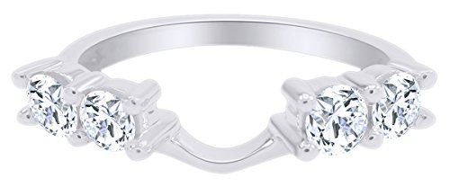 (Mothers Day Jewelry Gifts 14k White Gold Diamond Solitaire Engagement Ring Enhancer (5/8 carat G-H Color I2-I3 Clarity) IGI Certified)