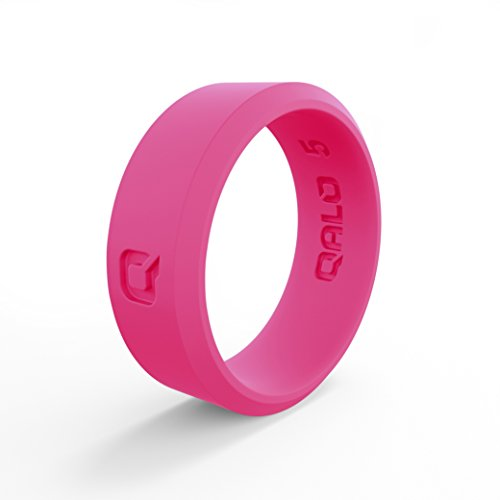 (QALO Women's Pink Modern Silicone Ring Size 07)