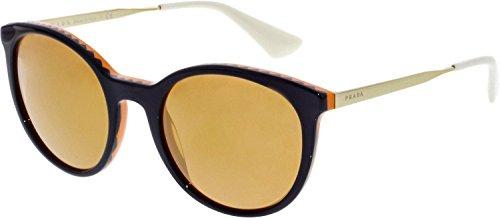 Prada PR17SS VH56T0 Violet Orange PR17SS Round Sunglasses Lens Category 2 Lens ()