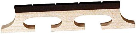 Banjo Bridge Ebony Inlay Slotted 4 String 5//8 inch high