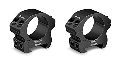 Vortex Optics Pro Series Riflescope Rings - 1 inch - Low Height [0.75 Inches | 19.05 mm] ()