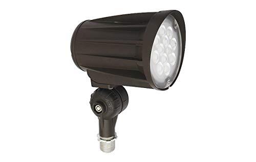 ASD 28 Watt LED Bullet Flood Lights with Knuckle - LED Outdoor Flood Lights - IP65 Rated Bulbs – Bronze- 5000K - for Landscapes – Poles – Pathways