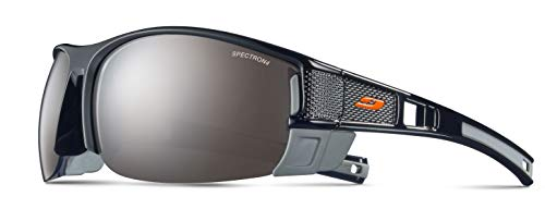 Julbo Makalu Asian Fit Sunglasses for Outdoors, Hiking, Mountaineering - Spectron 4 - Shiny Black/Grey