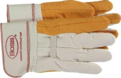 Gauntlet Cuff Chore Gloves (Boss Gauntlet Cuff Chore Gloves, Safety Cuff, Large)