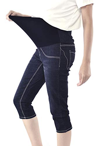8f0bdef1fed05 WuhouPro Womens Super Stretch Adjustable Maternity Jeans AZ 1301 Black XL