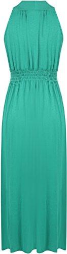 Vert robe 38 36 Hauts stretch Longue WearAll Femme zxaPF