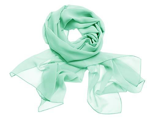 Dresstells Women's Bridal Chiffon Shawl Long Evening Scarves Wraps Mint M (19070cm)]()