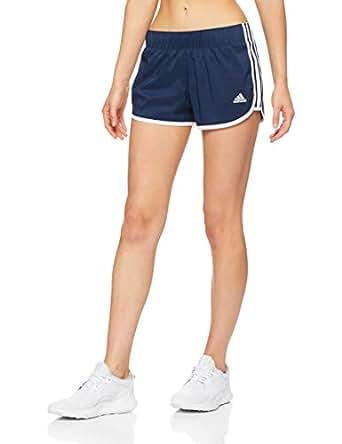 "adidas Women's M10 Icon Shorts, Collegiate Navy/White(Blue), S 3""(Small)"