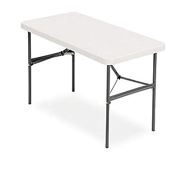 Bon Realspace Folding Table, Molded Plastic Top, 4u0027 Wide, 29u0026quot;H X