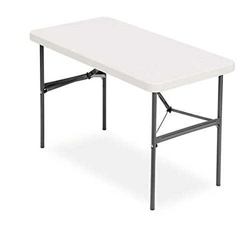 """Realspace Folding Table, Molded Plastic Top, 4' Wide, 29""""H x"""