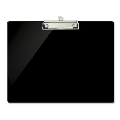 Officemate OIC Recycled Landscape Plastic Clipboard, Black (Legal Clipboard)