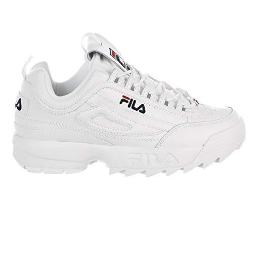 Sneakers Fila White (Fila Disruptor 2 Premium Shoes - wht/fnvy/fred - Mens - 10.5)