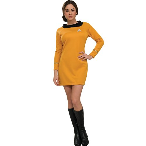 Rubie's Costume Star Trek Classic Deluxe Gold Dress, Adult XS -