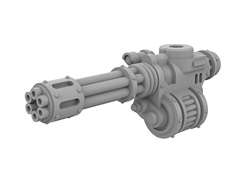 shapeways Unofficial Warhammer 40K Mini Knight Rotary Gun for Imperial Knight Armiger Warglaive Miniature Wargaming Model Figures Left Side, Smooth Fine Detail Plastic