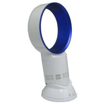 Airtech Super Quality Bladeless Fan, 10-inch Table Pedestal Oscillating Fan (Diamond Blue)